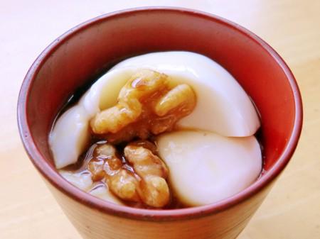 豆乳プリン胡桃ソース