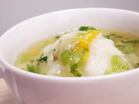 薬膳料理レシピ:鯛とキノコの蕪蒸し