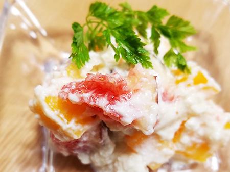 薬膳料理レシピ:無花果と柿の白和え