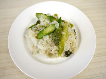 薬膳料理レシピ:和風アスパラリゾット