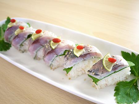 薬膳料理レシピ:鯵の棒寿司